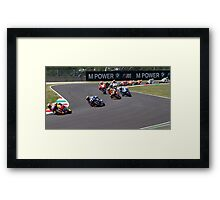 Start of the Mugello MotoGP Race 2011 Framed Print