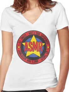 ASMR - What's Your Superpower? Women's Fitted V-Neck T-Shirt