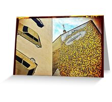 Snakes slither as cars crash... Greeting Card
