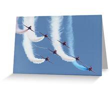 RAF Red Arrows - Formation Display Greeting Card