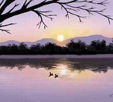 Winter Sunset by SophiaDeLuna