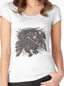 The Fierce Black Horn Women's Fitted Scoop T-Shirt