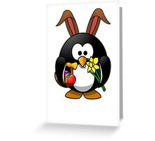 Easter Bunny Penguin Greeting Card