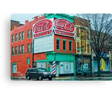 drink coca-cola in bottles Canvas Print