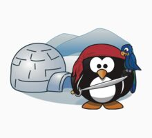 Pirate Penguin In Antarctica T-Shirt