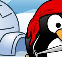 Pirate Penguin In Antarctica Sticker