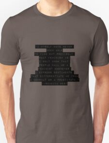 Feminist: Not a Doormat or a Prostitute Unisex T-Shirt
