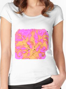 Psychedelic Rose Women's Fitted Scoop T-Shirt