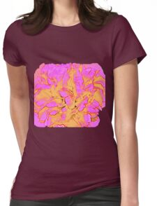 Psychedelic Rose Womens Fitted T-Shirt