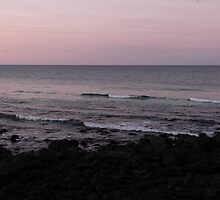 Waves at Burleigh Sunset by FangFeatures
