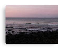 Waves at Burleigh Sunset Canvas Print
