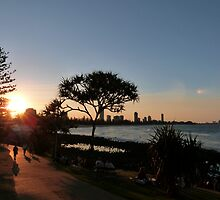 Burleigh Heads Sunset by FangFeatures