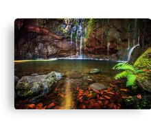 25 Fontes Waterfall in Rabacal Canvas Print