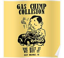 Gas Chimp Collision Poster