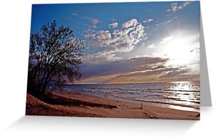 Lake Michigan Sunset by gharris