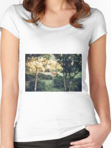 Lone Deer  Women's Fitted Scoop T-Shirt