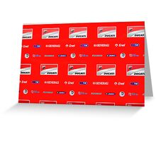 Ducati interview banner Greeting Card
