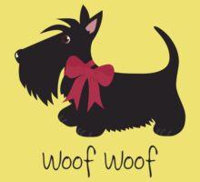 Woof Woof Scottie Dog Kids Clothes