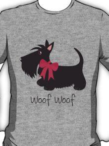 Woof Woof Scottie Dog T-Shirt