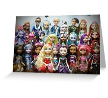 Ever After High - Class Photo Greeting Card