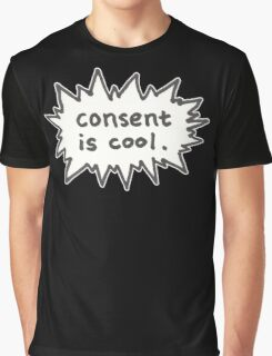 Consent is Cool Comic Flash Graphic T-Shirt