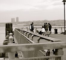 Chats on the pier  by terway