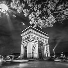 Arc de Truimphe and Eiffel Tower by Nicholas Jermy