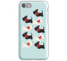 Scottie Dog iPhone/iPod case – blue iPhone Case/Skin