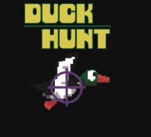 #dhl duck hunt logo video game black t-shirt tshirt by paulineperry398