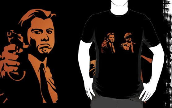 #mfp Pulp Fiction movie logo black t-shirt tshirt by paulineperry398
