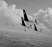 Rising to the challenge - black and white version by Gary Eason + Flight Artworks
