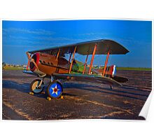 1917 Spad French WW1 Bi-Plane Poster
