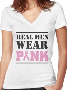 Real Men Wear Pink Women's Fitted V-Neck T-Shirt