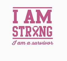 I am strong. I am a survivor Womens Fitted T-Shirt