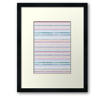 Blue Screen Print Aztec Framed Print