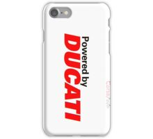Powered by Ducati iPhone Case/Skin