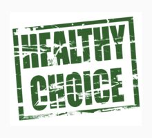 Healthy choice green rubber stamp effect by stuwdamdorp