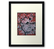 Moonflower Dance Date Framed Print