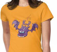 Bat Sinking its Fangs into Fresh Flesh Womens Fitted T-Shirt