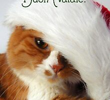 Buon Natale - Christmas Cat in Santa Hat by MoMoCards