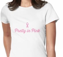 Pretty in Pink - Ribbon Womens Fitted T-Shirt