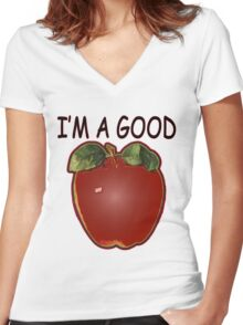 Good Apple Women's Fitted V-Neck T-Shirt