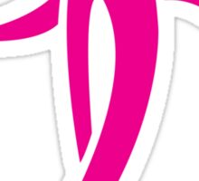 Pink Ribbon Person Sticker