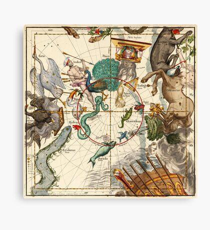 Centaurus, Indus, Chamaeleon, Eridanus, Lupulus, Api, Grus, Phoenix And Other Constellations Canvas Print