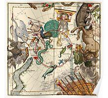 Centaurus, Indus, Chamaeleon, Eridanus, Lupulus, Api, Grus, Phoenix And Other Constellations Poster
