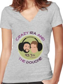 Crazy Ira and The Douche Women's Fitted V-Neck T-Shirt