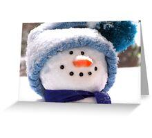 Happy Handmade Snowman Greeting Card