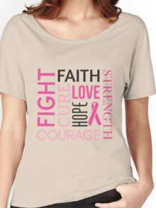 Breast Cancer Words Women's Relaxed Fit T-Shirt