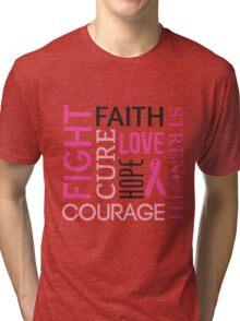 Breast Cancer Words Tri-blend T-Shirt