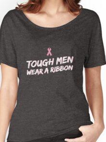 Tough Men Wear a Ribbon Women's Relaxed Fit T-Shirt